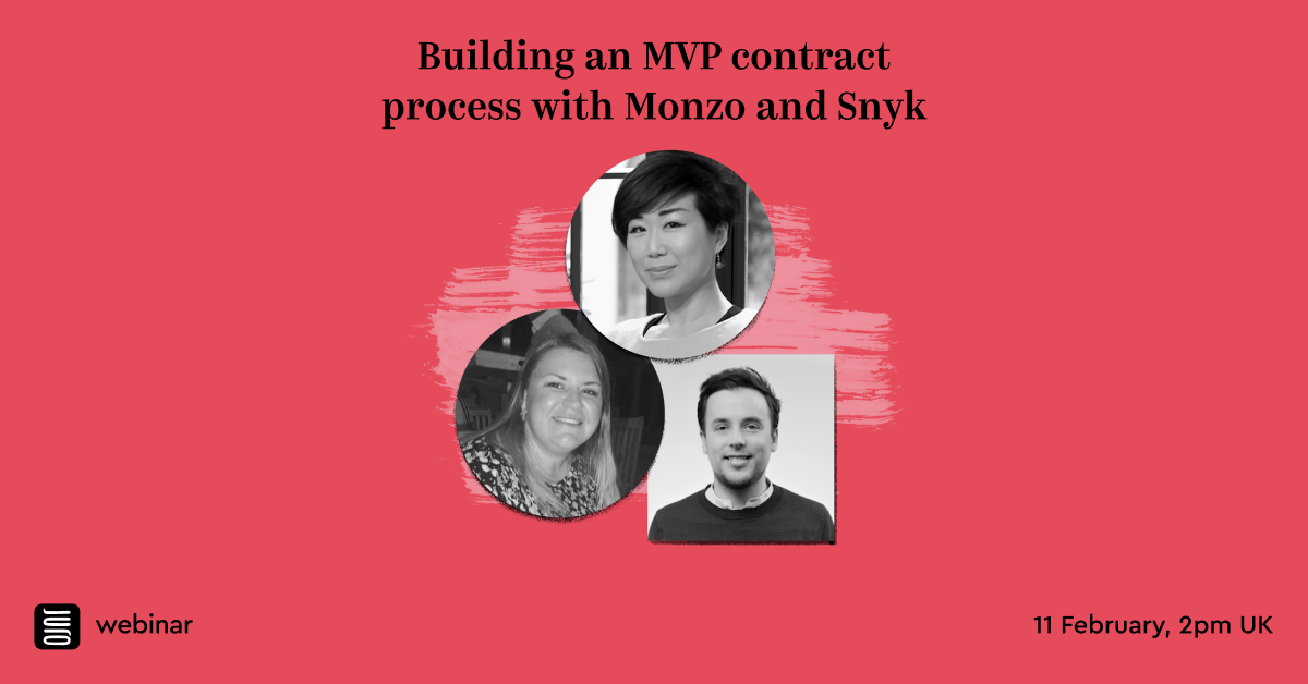 Webinar: Building an MVP contract process